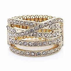 Principles by Ben de Lisi - Designer crystal crossover stretch ring