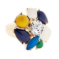 Principles by Ben de Lisi - Designer multicoloured stone cluster ring