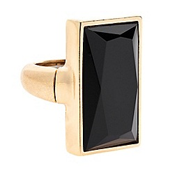 Principles by Ben de Lisi - Designer jet baguette adjustable ring