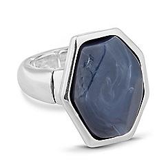 Principles by Ben de Lisi - Designer marble effect stone gold bar ring