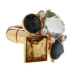 Principles by Ben de Lisi - Designer grey mixed stone ring