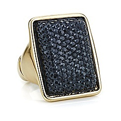 Principles by Ben de Lisi - Designer black crystal druzy ring