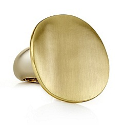 Principles by Ben de Lisi - Designer gold textured disc ring