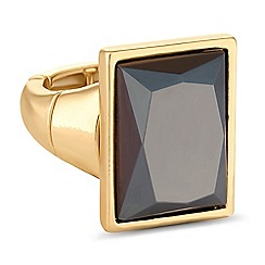 Principles by Ben de Lisi - Designer square crystal ring