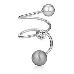 Principles by Ben de Lisi - Designer crystal and orb swirl ring