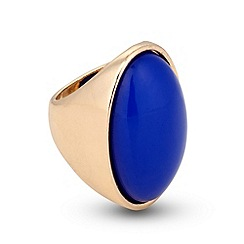 Principles by Ben de Lisi - Designer oval blue stone statement ring