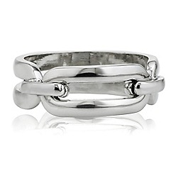 Principles by Ben de Lisi - Designer silver oval link ring