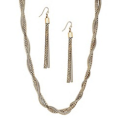 Principles by Ben de Lisi - Designer multi chain wrap necklace and earring set
