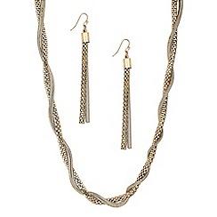 Principles by Ben de Lisi - Designer multi chain wrap necklace and earring set