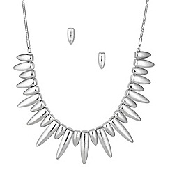 Principles by Ben de Lisi - Designer textured spike necklace and earring set
