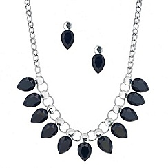 Principles by Ben de Lisi - Designer blue peardrop necklace and earring set