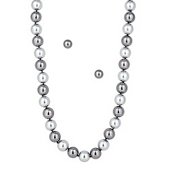 Principles by Ben de Lisi - Designer grey pearl tonal necklace and earring set