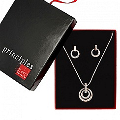 Principles by Ben de Lisi - Designer rose gold disc necklace and earring set