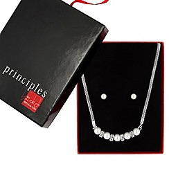 Principles by Ben de Lisi - Great value designer pearl and crystal disc jewellery set