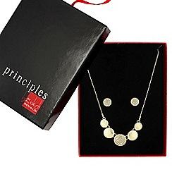 Principles by Ben de Lisi - Designer great value crystal gold disc jewellery set