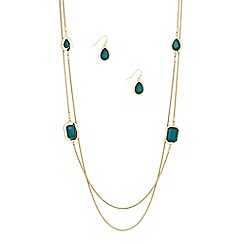 Principles by Ben de Lisi - Designer mixed teal stone chain rope jewellery set