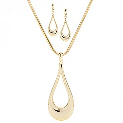 Principles by Ben de Lisi - Designer polished peardrop long pendant set