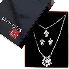 Principles by Ben de Lisi - Designer great value crystal cluster drop jewellery set