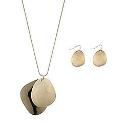 Principles by Ben de Lisi - Designer gold pebble jewellery set