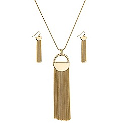 Principles by Ben de Lisi - Designer half circle tassel jewellery set