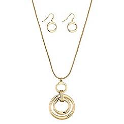 Principles by Ben de Lisi - Designer gold oval link jewellery set