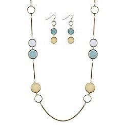 Principles by Ben de Lisi - Designer green circle jewellery set