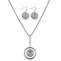 Principles by Ben de Lisi - Blue crystal hoop jewellery set