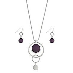 Principles by Ben de Lisi - Designer multi circle drop jewellery set