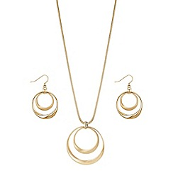 Principles by Ben de Lisi - Designer gold circle jewellery set