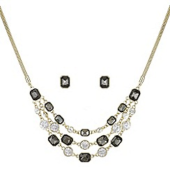 Principles by Ben de Lisi - Designer tonal crystal multi row jewellery set