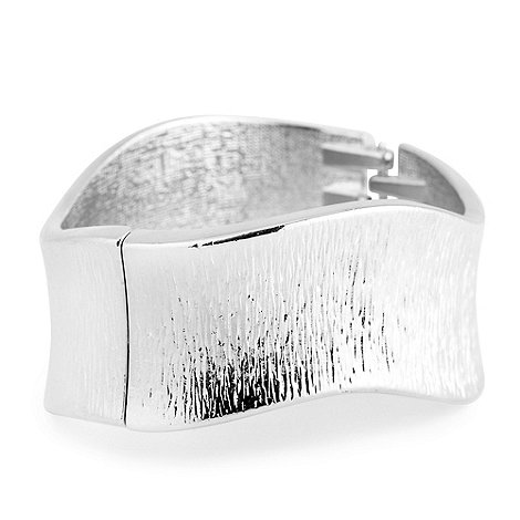 Principles by Ben de Lisi - Brushed silver wave hinged bangle
