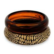 Animal print resin bangle pack