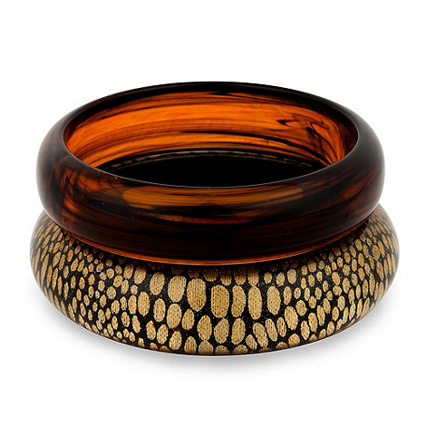 Principles by Ben de Lisi - Animal print resin bangle pack
