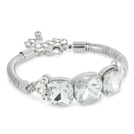 Principles by Ben de Lisi - Triple crystal square stone set bracelet