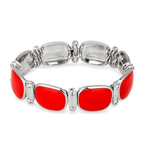 Principles by Ben de Lisi - Red enamel panel stretch bracelet