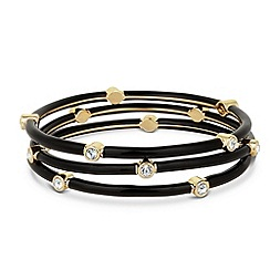 Principles by Ben de Lisi - Designer jet and gold triple bangle set