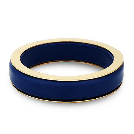 Principles by Ben de Lisi - Designer blue enamel chunky bangle