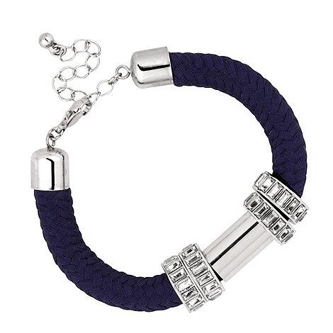 Principles by Ben de Lisi - Designer blue corded tubular bracelet