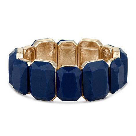 Principles by Ben de Lisi - Designer blue facet stone stretch bracelet