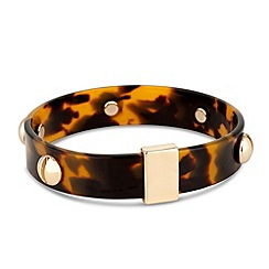 Principles by Ben de Lisi - Designer tortoise effect gold bangle
