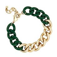 Online exclusive two tone chain bracelet