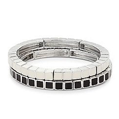 Principles by Ben de Lisi - Designer black and white enamel bracelet set
