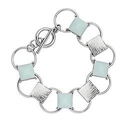 Principles by Ben de Lisi - Designer blue stone link bracelet