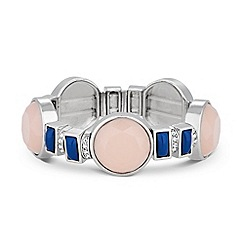 Principles by Ben de Lisi - Designer blue and pink stone stretch bracelet