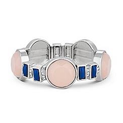 Principles by Ben de Lisi - Designer blue and pink stone stretch bracelet