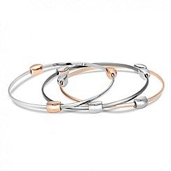 Principles by Ben de Lisi - Designer set of three mixed metal bangles