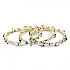 Principles by Ben de Lisi - Designer set of three grey crystal set bangles