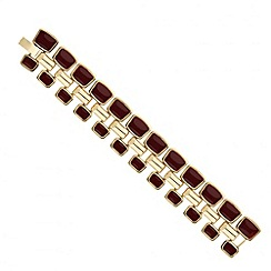 Principles by Ben de Lisi - Designer burgundy enamel chain bracelet