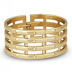 Principles by Ben de Lisi - Designer gold bar hinged bangle