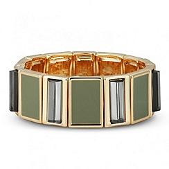 Principles by Ben de Lisi - Designer grey enamel 3-d stretch bracelet